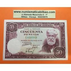 ESPAÑA 50 PESETAS 1951 SANTIAGO RUSIÑOL Serie C 2237583 Pick 141 BILLETE EN EXCELENTE CONSERVACION Spain banknote