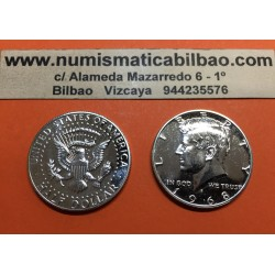 ESTADOS UNIDOS 1/2 DOLAR 1968 S KENNEDY KM A202B MONEDA DE NICKEL PROOF Medio USA HALF DOLLAR FROM MINT SET