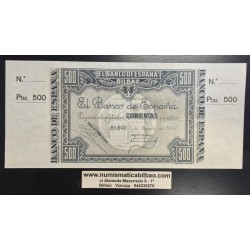 @SUPER RARO@ BILBAO 500 PESETAS 1937 BANCO DE BILBAO Pick S.566 BILLETE SC MATRIZ ORIGINAL GOBIERNO DE EUSKADI