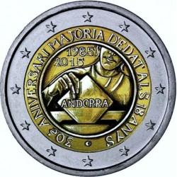 ANDORRA 2 EUROS 2015 30 AÑOS DE LA MAYORIA DE EDAD PARA VOTAR SC MONEDA CONMEMORATIVA Fecha de emisión Andorra 2 Euros 2015