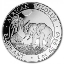 SOMALIA 100 SHILLINGS 2017 ELEFANTES MONEDA DE PLATA PROOF 1 Onza Oz Ounce Silver Bullion coin