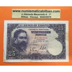 ESPAÑA 25 PESETAS 1954 ISAAC ALBENIZ Serie J 3760383 Pick 147 BILLETE MBC- Spain banknote