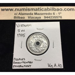VIETNAM 5 XU 1975 VALOR PEOPLE'S REVOLUTIONARY GOVERNMENT KM.A.10 MONEDA DE ALUMINIO North Vietnam del Norte