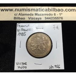 FRANCIA 10 FRANCOS 1985 VICTOR HUGO KM.956 MONEDA DE LATON EBC FRANCE FRANCS