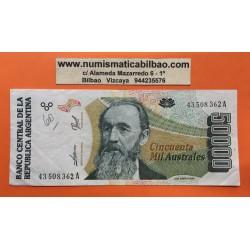 ARGENTINA 50000 AUSTRALES (1990) PEÑA Serie B AUNC Billete Bankn