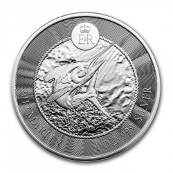 CAYMAN 1 DOLAR 2017 PEZ AGUJA MARLIN MONEDA DE PLATA @PROOF LIKE@ 1 ONZA 2017 OZ OUNCE Cayman Islands Dollar