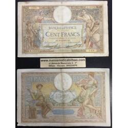 @OFERTA@ FRANCIA 100 FRANCOS 1931 1933 1938 DIOSAS Pick 86 BILLETE CIRCULADO @RARO@ France 100 Francs banknote