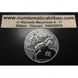 INGLATERRA 2 LIBRAS 2016 AÑO LUNAR DEL MONO MONEDA DE PLATA SC 2 Pounds Silver 1 ONZA OZ OUNCE Year of the Monkey