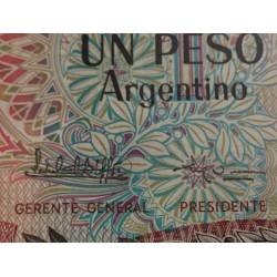 @OFERTA@ ARGENTINA 1 PESO 1983 GENERAL SAN MARTIN Pick 311 Firma 2 @ERROR EN LA FIRMA@ BILLETE SC
