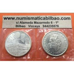 ESPAÑA 2000 PESETAS 1994 BANCO DE ESPAÑA ASAMBLEA DEL FMI KM.937 MONEDA DE PLATA SC @EN BOLSA ORIGINAL@