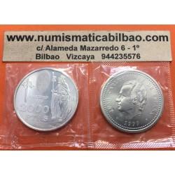 ESPAÑA 2000 PESETAS 1999 APOSTOL SANTIAGO AÑO SANTO XACOBEO KM.925 MONEDA DE PLATA SC @EN BOLSA ORIGINAL@