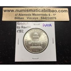 FRANCIA 100 FRANCOS 1982 PANTHEON KM.951.1 MONEDA DE PLATA SC France silver francs