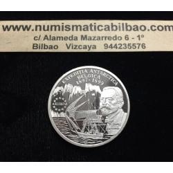 RUMANIA 100 LEI 1999 BARCO DE EXPEDICION EN EL ARTICO KM.148 MONEDA DE PLATA PROOF @RARA@ Romania