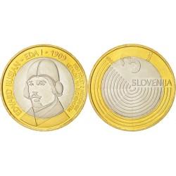 SLOVENIA 3 EUROS 2008 PRESIDENCY UNC BIMETALLIC