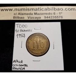 .TOGO 6000 FRANCS 2003 ELEFANTES BIMETALLIC UNC KM*20