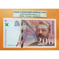 FRANCIA 200 FRANCOS 1997 GUSTAVE EIFFEL Serie E727 Pick 159 BILLETE EBC-- @MANCHITAS@ France 200 Francs banknote