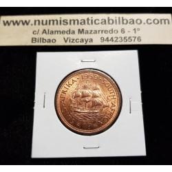 SUDAFRICA 1 PENIQUE 1959 BARCO VELERO REINA ISABEL II KM.46 MONEDA DE COBRE @LUJO@ South Africa 1 Penny