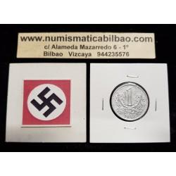 BOHEMIA y MORAVIA 1 KORUNA 1942 LEON KM.4 MONEDA DE ZINC OCUPACION NAZI III REICH Hoy Chekia