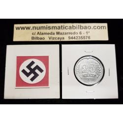 @OFERTA@ HOLANDA 25 CENTIMOS 1941 BARCO KM.174 MONEDA DE ZINC OCUPACION NAZI III REICH WWII Netherlands