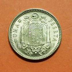 ESPAÑA 1 PESETA 1953 * 19 61 FRANCISCO FRANCO MONEDA DE LATON SC @MANCHITAS@ ESTADO ESPAÑOL
