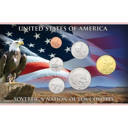 @NOVEDAD@ ESTADOS UNIDOS 1+5+10+25+50 Centavos + 1 DOLAR 2011 TRIBU INDIA SOVEREIGN NATION OF LOS COYOTES