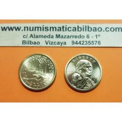 ESTADOS UNIDOS 1 DOLAR 2000 P INDIA SACAGAWEA MONEDA DE LATON SC USA $1 Dollar coin