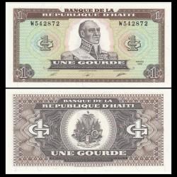 HAITI 1 GOURDE 1989 GENERAL TOSSANT LOUVERTURE Pick 253 BILLETE SC UNC BANKNOTE Une Gourde