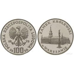 POLONIA 100 ZLOTY 1975 VARSOVIA KM.76 MONEDA DE PLATA PROOF Poland 100 Zlotych ZL silver coin WARSZAWIE