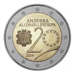 ANDORRA 2 EUROS 2014 CONSEJO DE LA UNION EUROPEA (EMISION EN 2016) SC MONEDA CONMEMORATIVA COIN