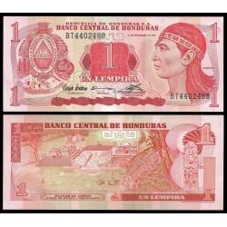 HONDURAS 1 LEMPIRA 1992 INDIO CACIQUE y ESCUDO Pick 71 BILLETE SC UNC BANKNOTE