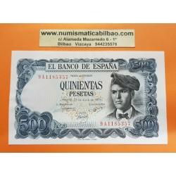 ESPAÑA 500 PESETAS 1971 JACINTO VERDAGUER @RARA Serie 9A 1185357@ Pick 153 BILLETE SIN CIRCULAR SC PLANCHA Spain