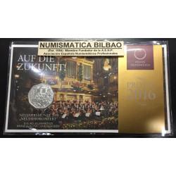 AUSTRIA 5 EUROS 2016 CONCIERTO DE AÑO NUEVO MONEDA DE PLATA SC OSTERREICH SILVER EURO COIN COIN BLISTER