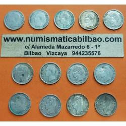 @ARRAS DE MATRIMONIO@ VENEZUELA 25 CENTIMOS 1954 a 1960 SIMON BOLIVAR 13 MONEDAS DE PLATA PARA EL DIA LA BODA