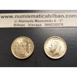 ESPAÑA 100 PESETAS 1988 M JUAN CARLOS I LIS ARRIBA HACIA EL REY KM.826 MONEDA DE LATON SC SIN CIRCULAR