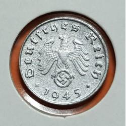 .ALEMANIA 1 REICHSPFENNIG 1945 E ESVASTICA NAZI III REICH @RARA@