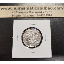 YUGOSLAVIA 10 DINARA 1931 REY ALEJANDRO I AGUILA KM.10 MONEDA DE PLATA EBC Silver coin 10 dinar 1931