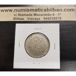 FICHA CASINO 5 PESETAS 1910/ 1920 ESPAÑA CABEZA DE MUJER NICKEL