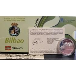 ESPAÑA 5 EUROS 2011 PLATA 17 CIUDAD de BILBAO