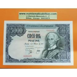 @DOBLEZ EN ESQUINA@ ESPAÑA 5000 PESETAS 1976 REY CARLOS III Sin Serie 646645 Pick 155 BILLETE SC Spain banknote UNC