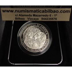 ESTADOS UNIDOS 1 DOLAR 2017 P ESTUCHE LIONS CLUB INTERNATIONAL CENTENNIAL MONEDA DE PLATA PROOF ESTUCHE Silver Dollar US MINT