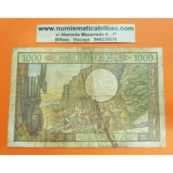 BANK OF CENTRAL MALI 1000 FRANCOS 1972 PUEBLO SAGRADO Pick 13E Sign 8 BILLETE MUY CIRCULADO @RARO@
