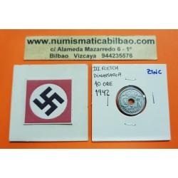 DINAMARCA 10 ORE 1942 KM@822.2A ZINC III REICH NAZI WWII