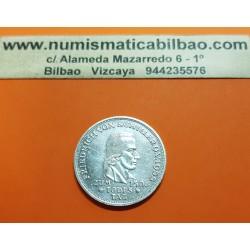 ALEMANIA 5 MARCOS 1955 F FRIEDRICH VON SCHILLER KM.114 MONEDA DE PLATA @MUY RARA@ GERMANY 5 Marks silver coin