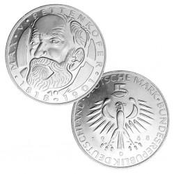ALEMANIA 5 MARCOS 1968 D MAX PETTENKOFER KM.123.1 MONEDA DE PLATA SC Germany 5 marks silver