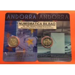 ANDORRA 2 EUROS 2015 Pareja de 2 monedas MAYORIA DE EDAD + ACUERDO ADUANERO SC @RARAS@ Fecha de emisión Andorra 2 Euros 2016