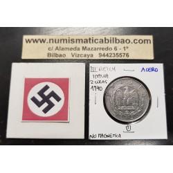 ITALIA 1 LIRA 1942 R Año XX VALOR III REICH NAZI @RARA@