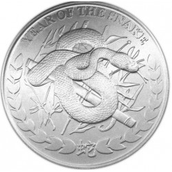 REPUBLIC OF SOMALILAND 1000 SHILLINGS 2013 YEAR OF THE SNAKE AÑO DE LA SERPIENTE SC MONEDA DE PLATA 1 ONZA Oz OUNCE silver