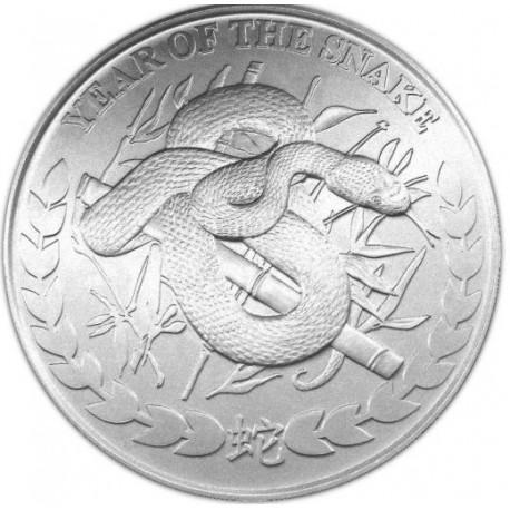 REPUBLIC OF SOMALILAND 1000 SHILLINGS 2013 YEAR OF THE SNAKE AÑO DE LA SERPIENTE SC MONEDA DE PLATA 1 ONZA Oz OUNCE silver