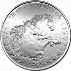 REPUBLIC OF SOMALILAND 1000 SHILLINGS 2014 YEAR OF THE HORSE AÑO DEL CABALLO SC MONEDA DE PLATA 1 ONZA Oz OUNCE silver