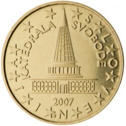 ESLOVENIA 10 CENTIMOS 2007 PROYECTO DE PARLAMENTO MONEDA DE LATON SC Slovenia 10 Euro Cents